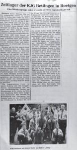 1964_Zeltlager_Zeitungsartikel_